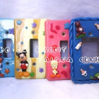 capa de  interruptor p/ quarto infantil decorada