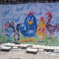 Painel decorativo galinha pintadinha