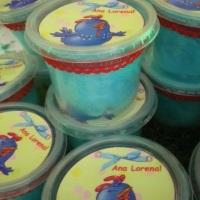 Algodão doce no potinho e personalizados