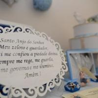 Placa com oração do Anjo