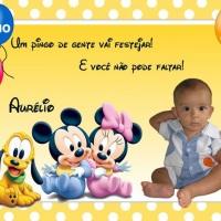 Lembrancinha ou convite imantado do tema Disney Baby