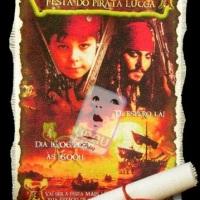 Convite Tecido Piratas do Caribe