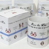 Caneca de porcelana para casamento Save The Date