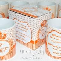 Caneca de porcelana para casamento