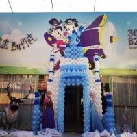 Castelo do Frozen de Balões