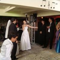 Noiva nos prestando homenagem