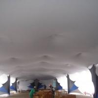 Túnel, forção de Tecidos, de 40m x 20m tudo em tecido.
