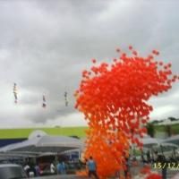 Revoada de Balões com Gás Hélio