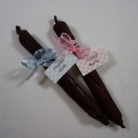 Charutinho de chocolate - lembrancinha maternidade