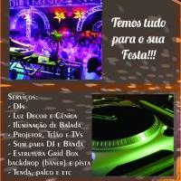 Entre os serviços que podem ser contratados com a empresa, você encontra:     DJs    Estrutura gr