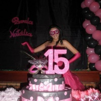 15 anos Baile de máscaras.
