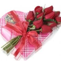 chocolate e flores