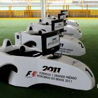 Simuladores de F1 Virtual Grand Prix no GP Brasil de F1 2011