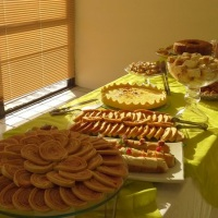 Mesa de Coffee Break, evento corporativo.