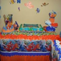 Mesa decorada - Tema: Nemo