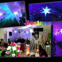 Estrelas Neon e Trave Boxtruss