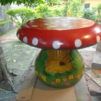 Base de mesa cogumelo em fibra