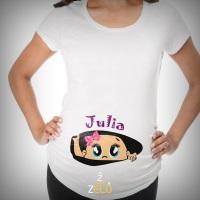 Camiseta personalizada Gestante Impressão: Sublimação Tecido: 100%poliéster