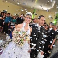 Casamentos (Sky Paper - Chuva de papel picado)